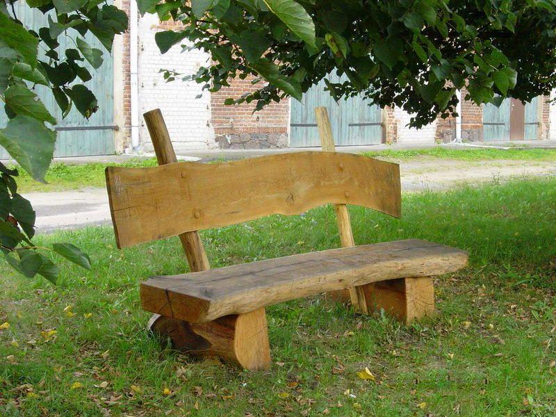 Gartenbank Massivholz Rustikal Einfach Und Robust Rustikal Gartenbank Bank