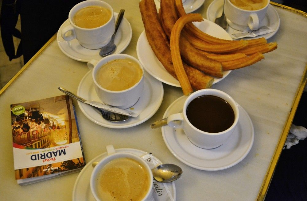 Churros con Chocolate in Madrid!