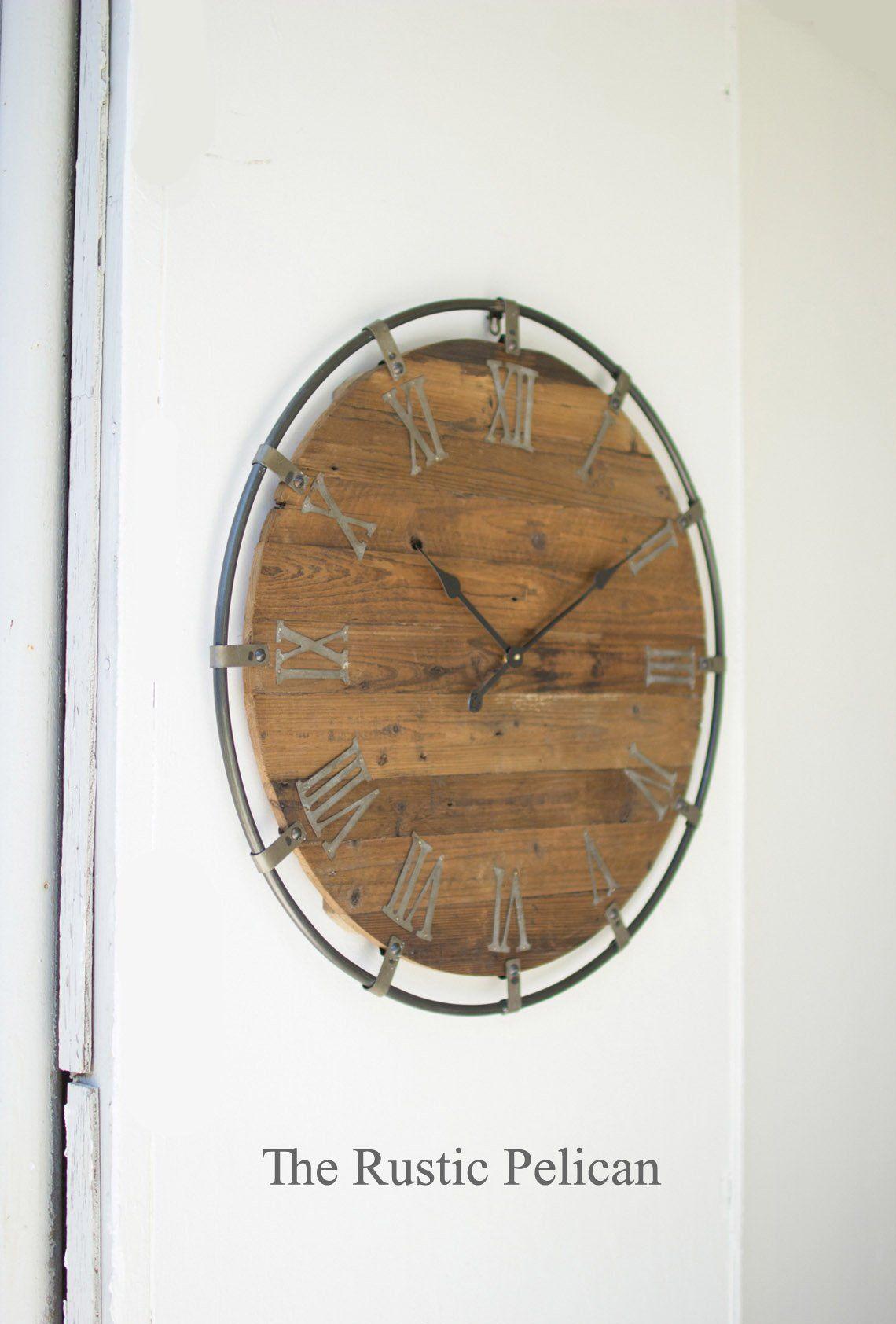 Free Shipping Large Wall Clocks Country Farmhouse Decor