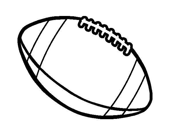 ball of american football coloring page coloringcrewcom - Football Coloring