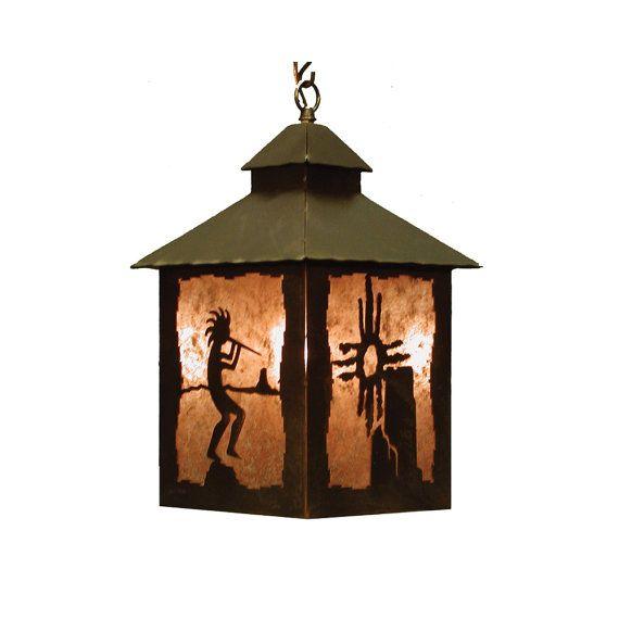 Lantern Pendant Kokopelli Light Fixture By CabinExclusive On Etsy