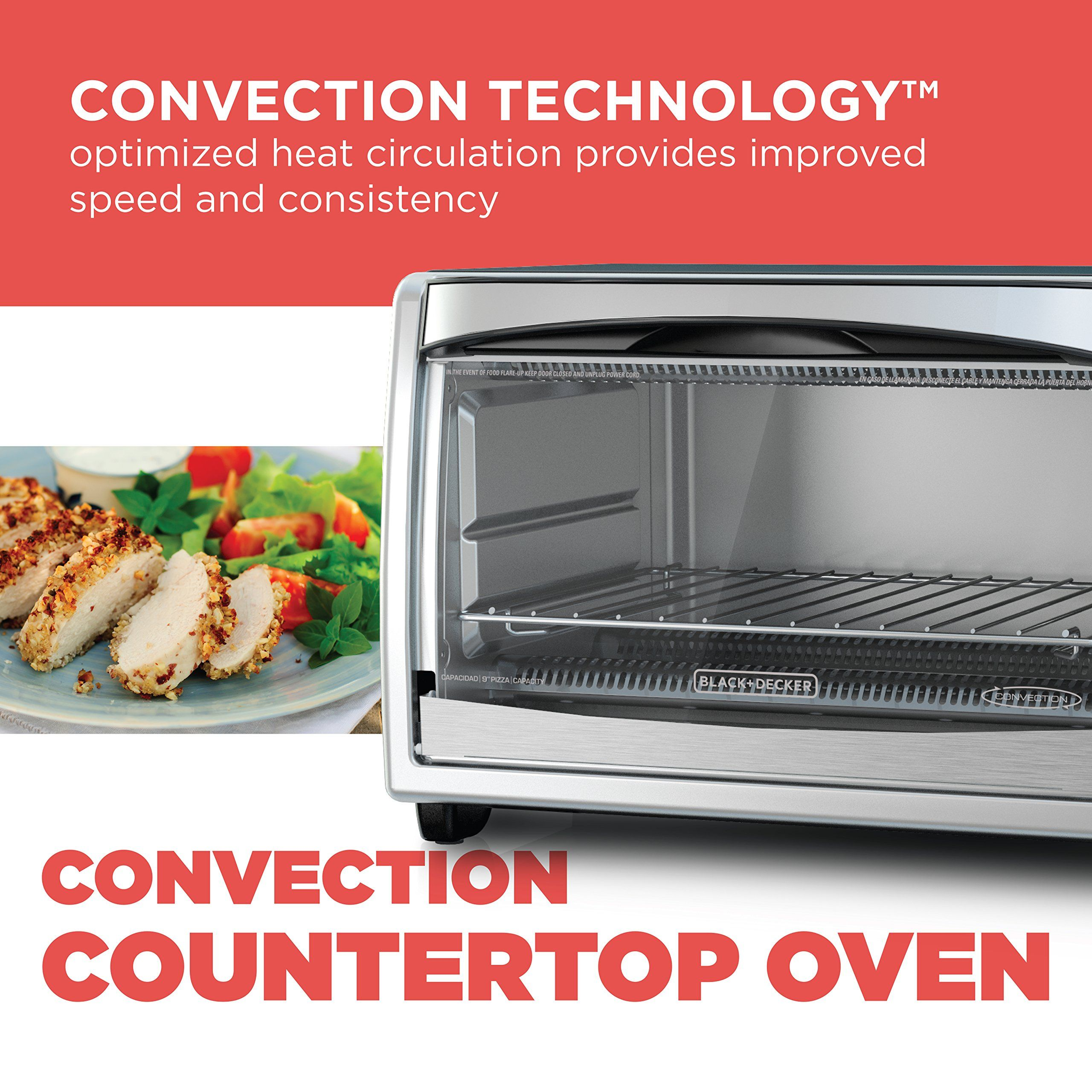 Black decker to1675b 6slice convection countertop toaster