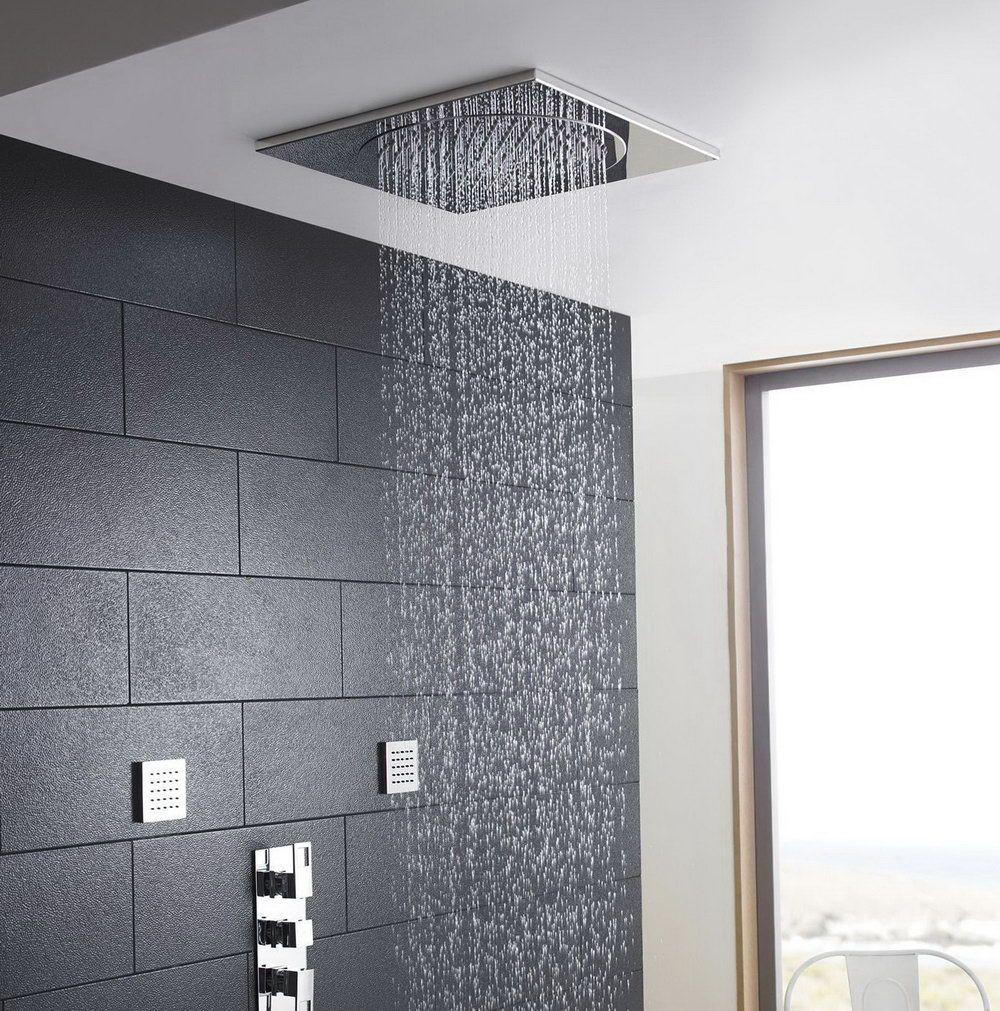 Bathroom Ceiling Ideas Pinterest: Flush Mount Ceiling Shower He Home Design Ideas