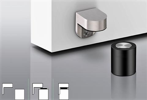 Door Stop With Magnetic Retainer In 13 186 In 2020 Door Stopper Door Accessories Door Stop