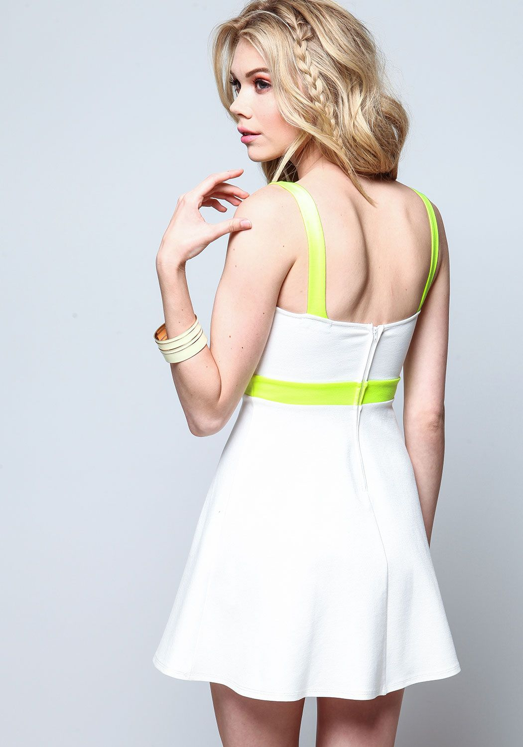 Love her Hair! Neon Outline Flare Dress - Love Culture