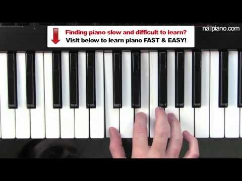 How To Play C Major Chord Piano Lesson Easy Beginners Free