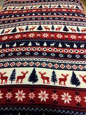 Reindeer Throw Blanket  Double Primark.... IDEAL GIFT....180cm to 220cm
