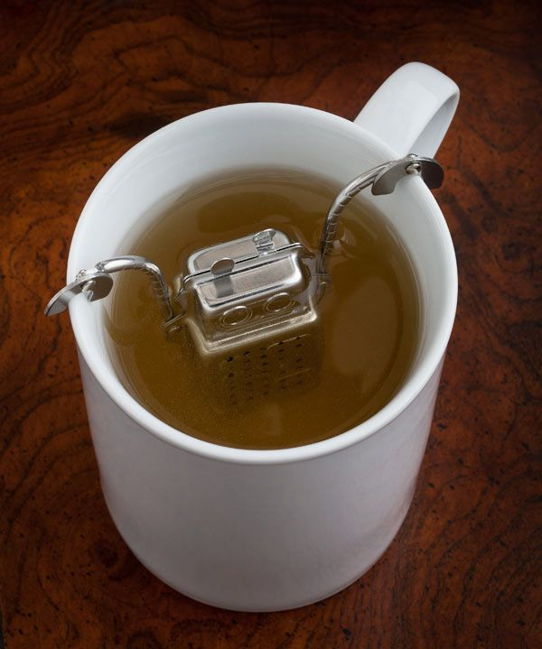 Hahaha, cute... | ThinkGeek :: Robot Tea Infuser