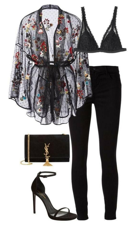 Luxury black outfit. Classy and cute