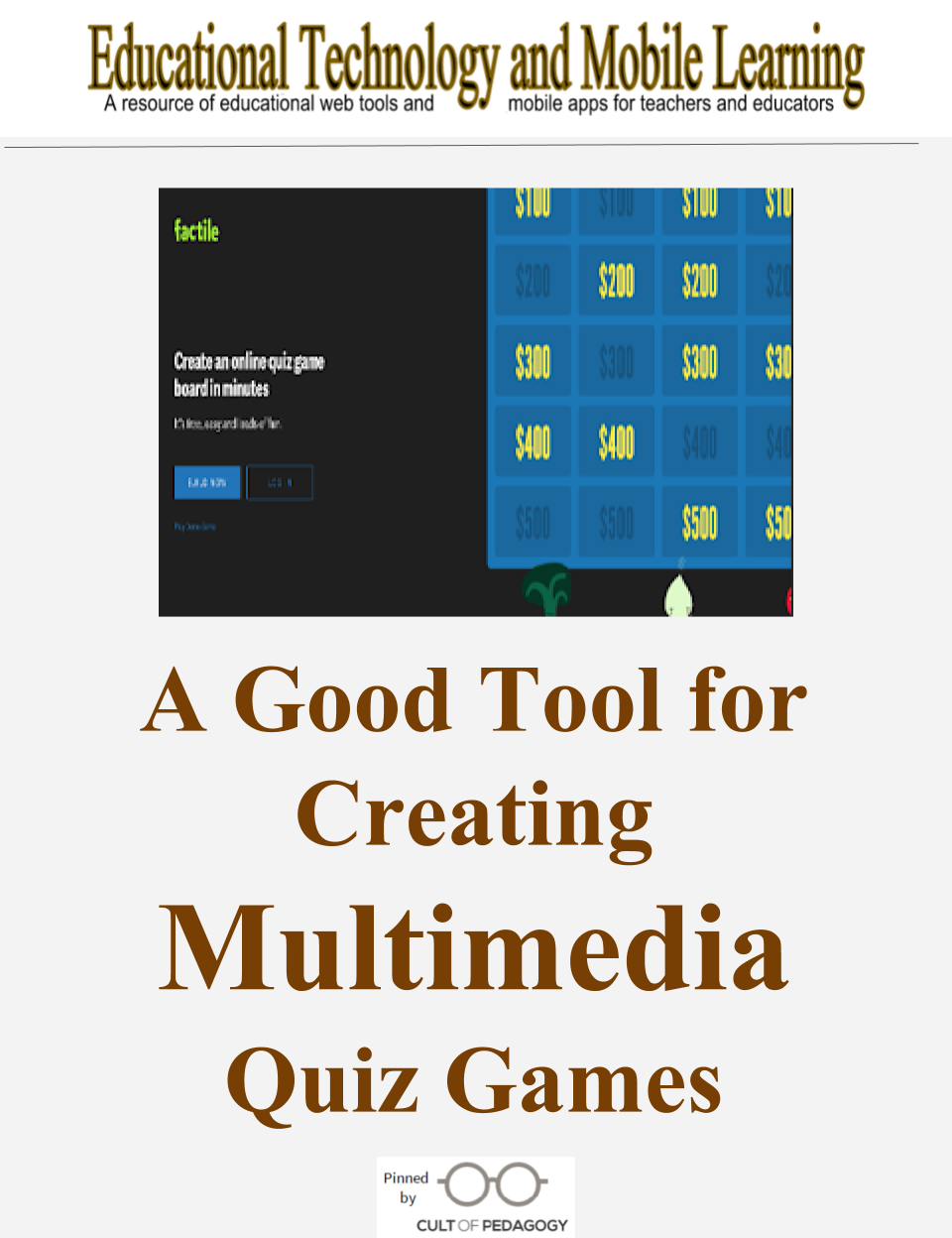 here is a good tool for creating multimedia quiz games aps