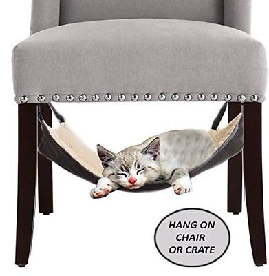Cat Hammock Bed Hanging Soft Pet Bed For Cage Chair Crate Ferret