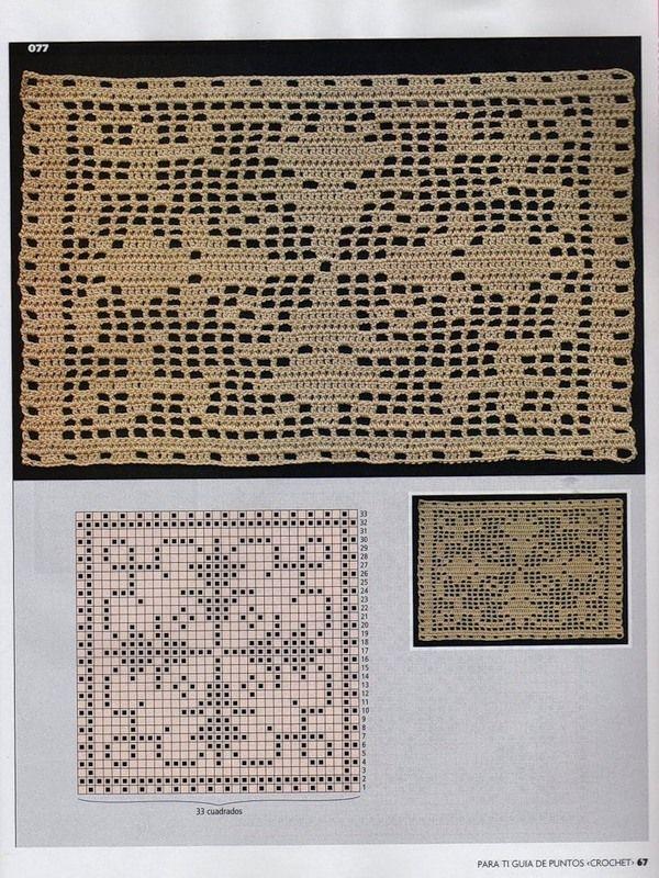 Filet crochet charts | filethäkeln | Pinterest | Häkeln