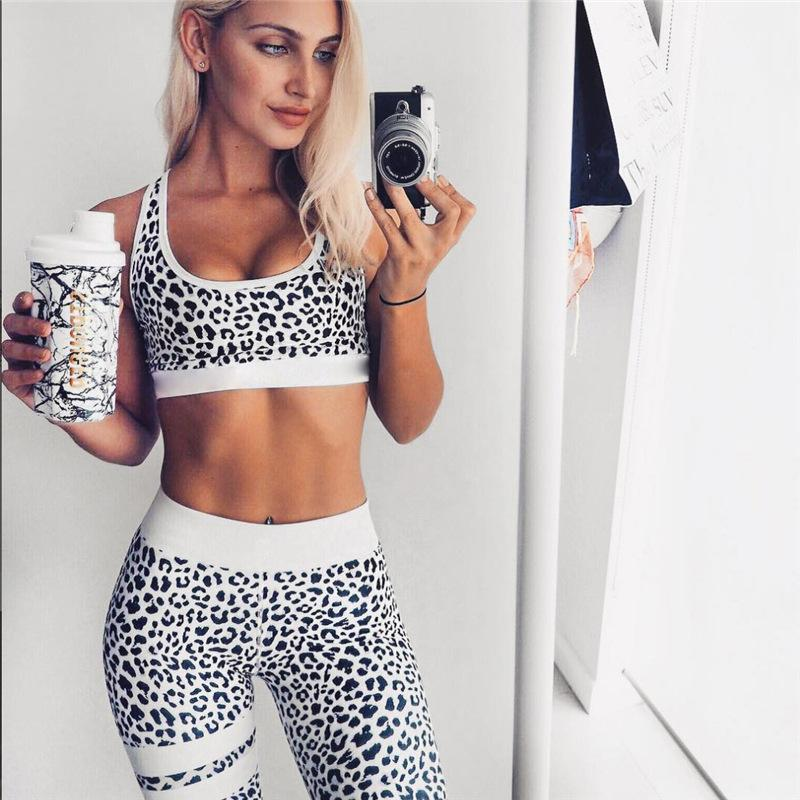 c3a0ea1055dee Women's Fitness Suits Crop Tank Top And Legging Pants 2 Pieces Set FREE  SHIPPING. Leopard Printed ...