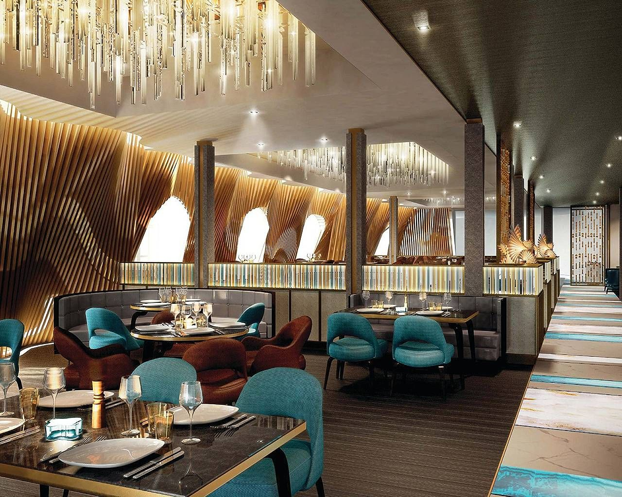 Restaurant Design Concepts With Lamp Crystal Interior Design Giesendesign Restaurant Design Concepts Restaurant Design Luxury Restaurant
