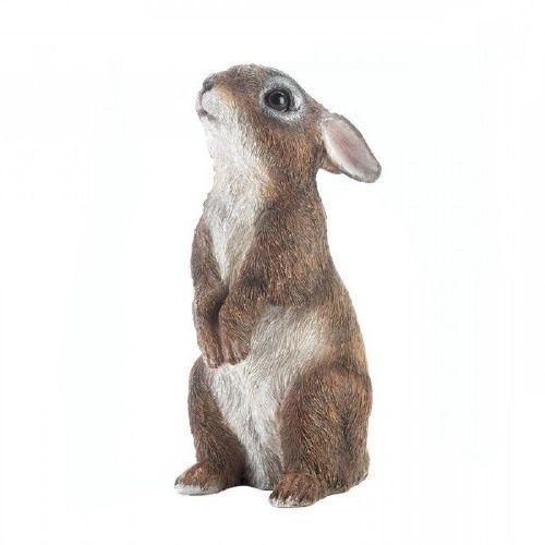 Bunny Garden Ornament Stand Up Rabbit Figurine Yard Outdoor Statue ...