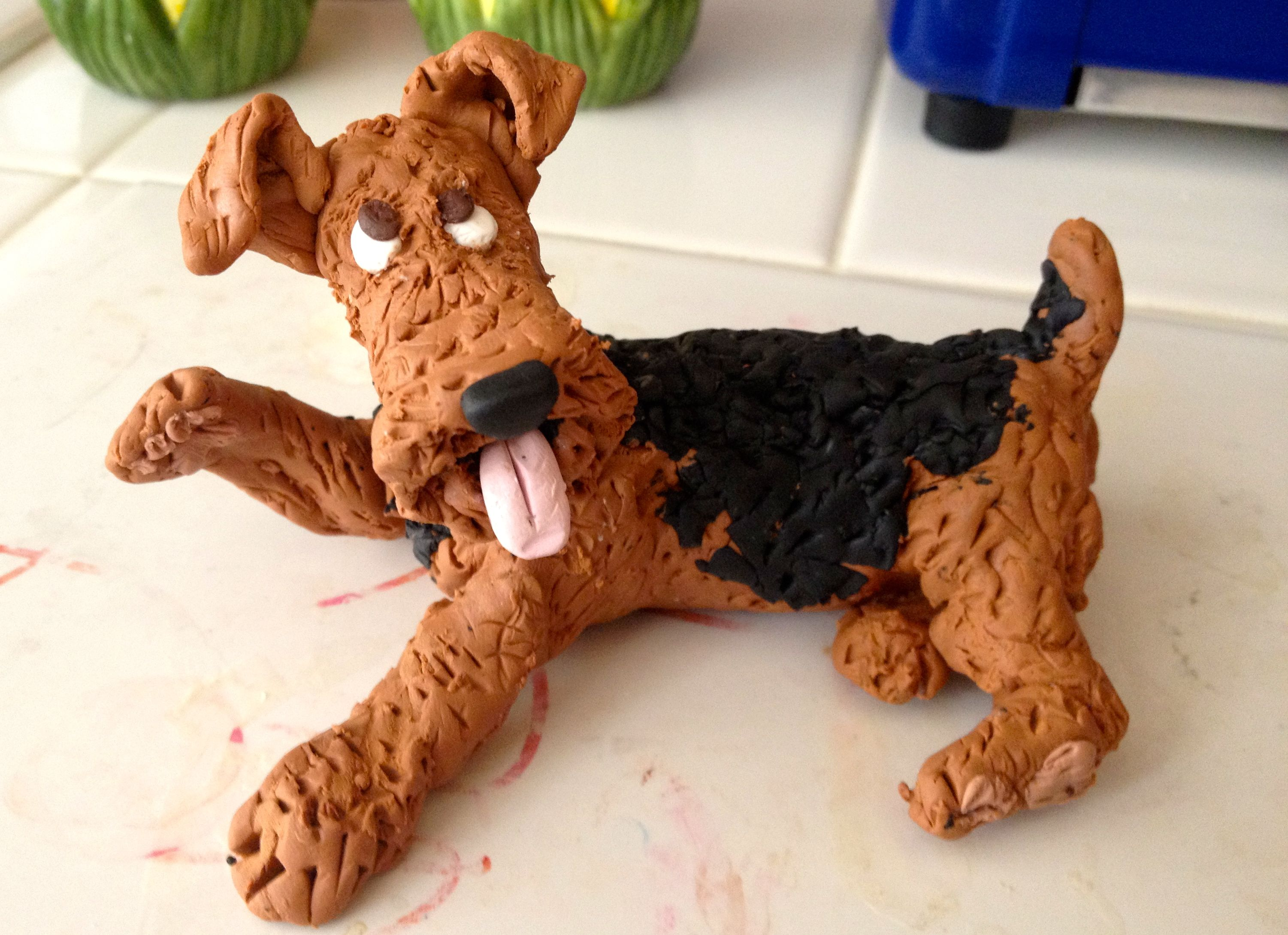 Airedale terrier airedale terrier dog cake topper wire