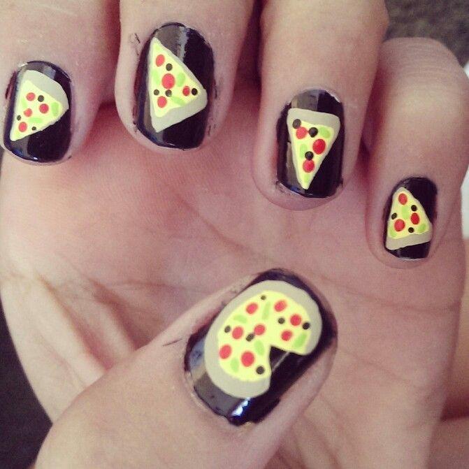 pizza nail art - Google Search | Nails | Pinterest