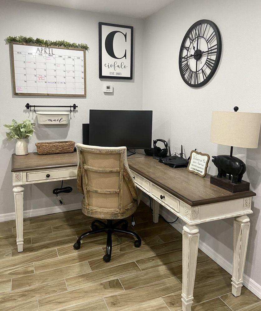 Realyn Home Office Desk Return Ashley Furniture Homestore Home Office Desks Guest Bedroom Office Home Office Design
