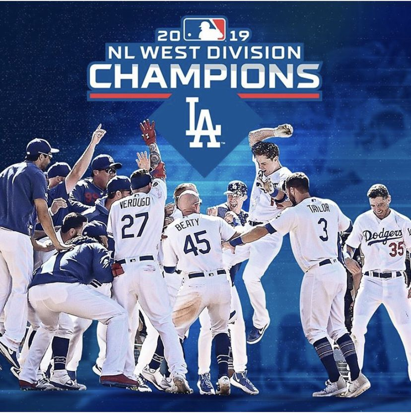 Los Angeles Dodgers 2019 Nl West Division Champions Congrats