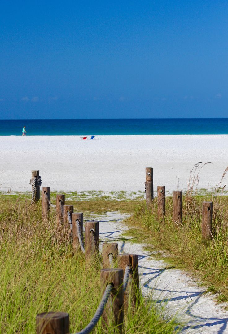 Beach Pathway To Siesta And The Gulf Of Mexico On Key In Sarasota Florida