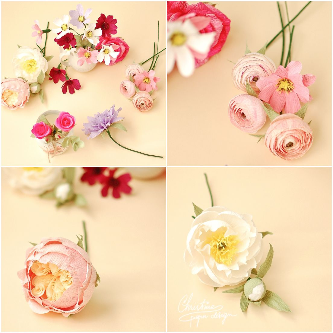 Bust Of Colors And Free Spirit For New Paper Flowers Arrangements