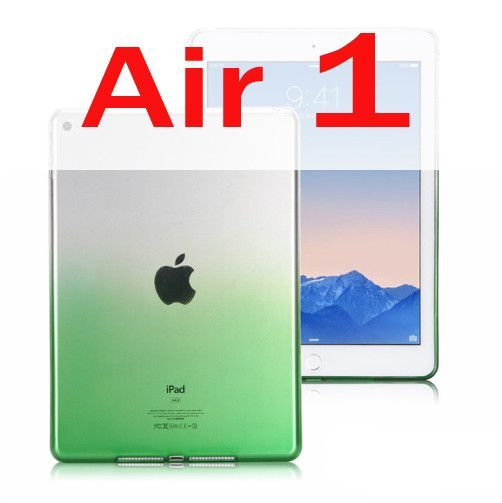 Case For iPad Air 1 / Air 2 ( iPad 5 6 ) Silicone Soft Protector Gradient Color Ultra Slim Shell Cover For Apple iPad Mini 1 2 3