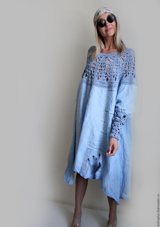 3c7bb8e8dec9554 Купить Платье из тонкого льна