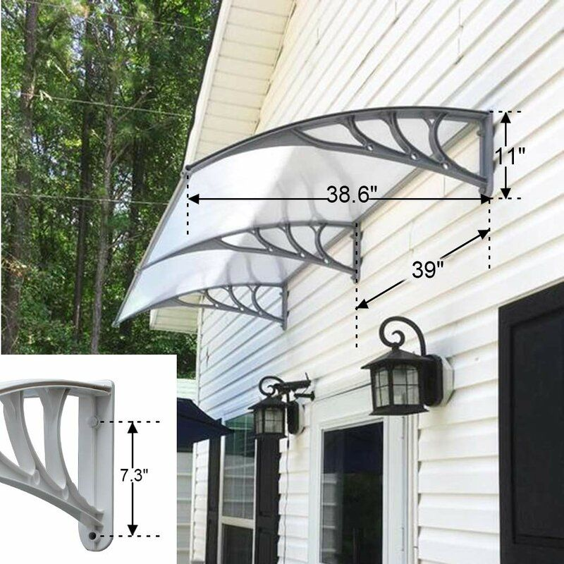 Overhead Front 3 Ft W X 3 Ft D Plastic Standard Door Awning Door Awnings Beautiful Front Doors Outdoor Window Awnings