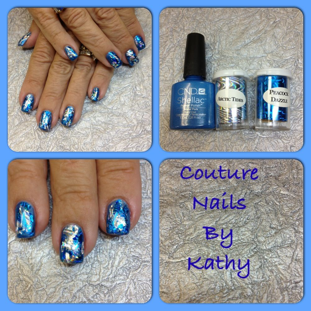 Cnd shellac and foil nail art couture nails by kathy pinterest cnd shellac and foil nail art prinsesfo Choice Image