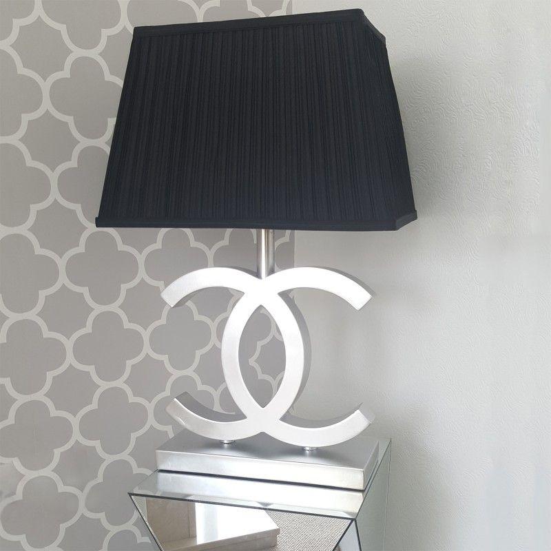 Chanel Inspired Desk Lamp Monochrome CC Lamp | Modern Table Lamp | Designer  Lighting | Coco