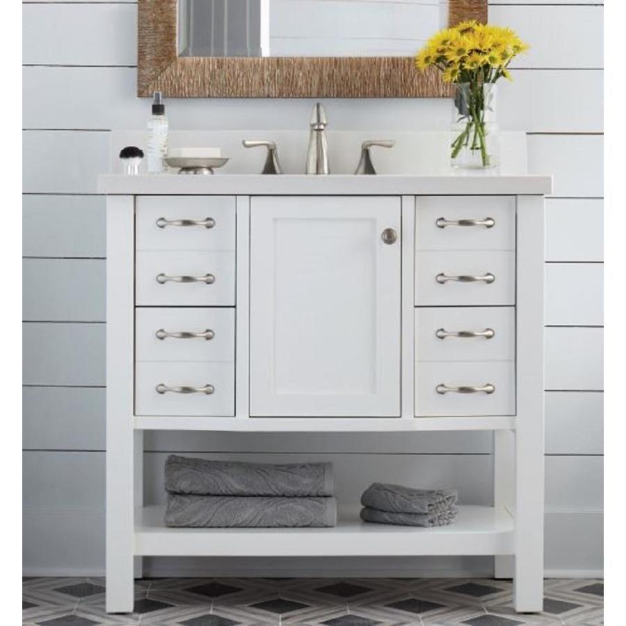 shop allen roth kingscote white undermount single sink bathroom rh pinterest com