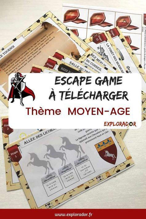 Chasse au trésor, escape game au Moyen-Age, 8 ans à 12 ans (ou +) | Chasse au trésor, escape ...
