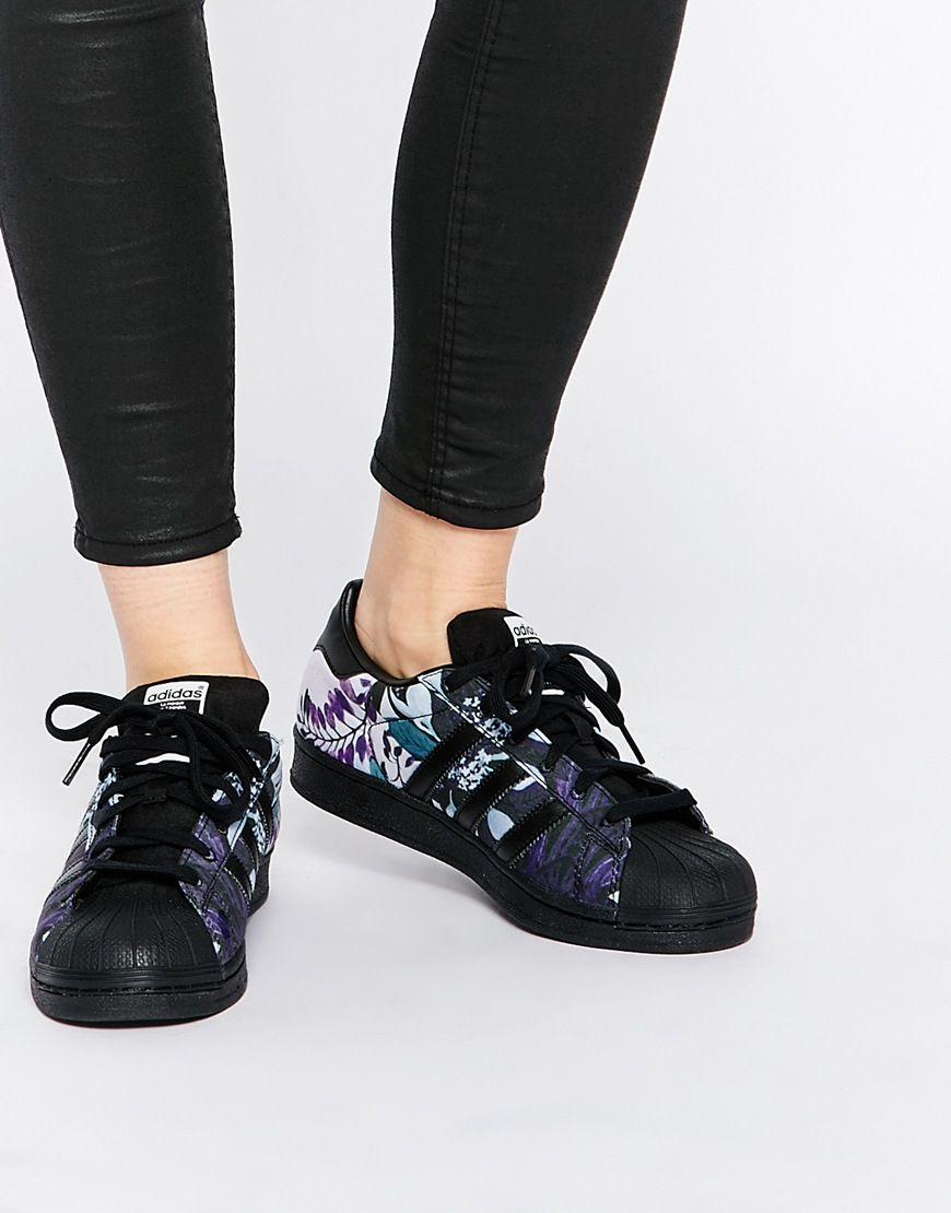adidas originals floral trainers
