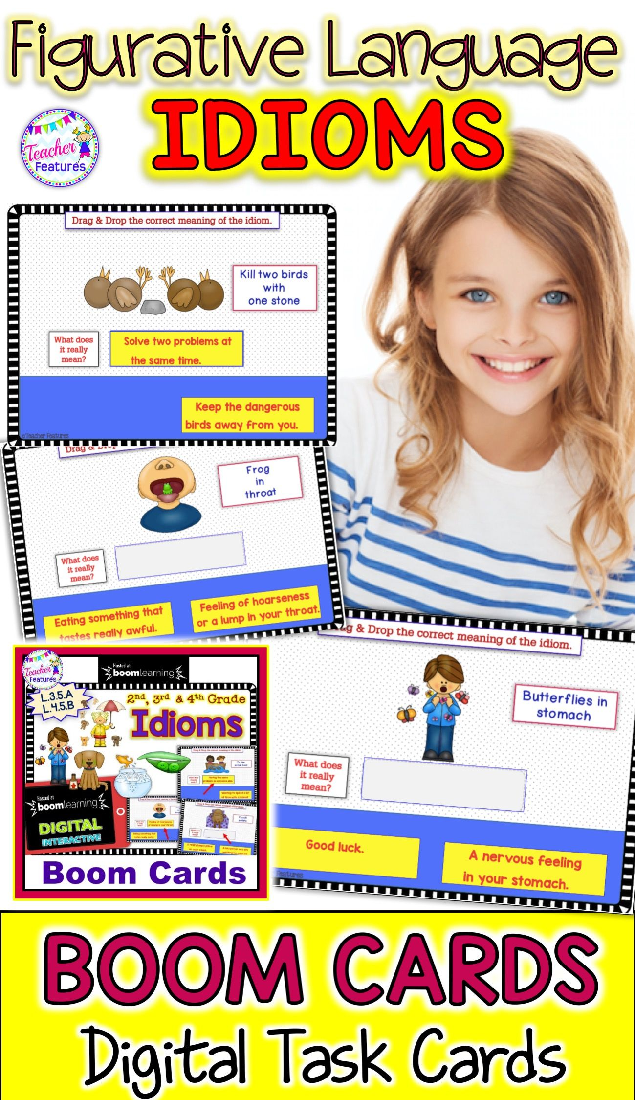 Boom Cards Idioms Amp Figurative Language