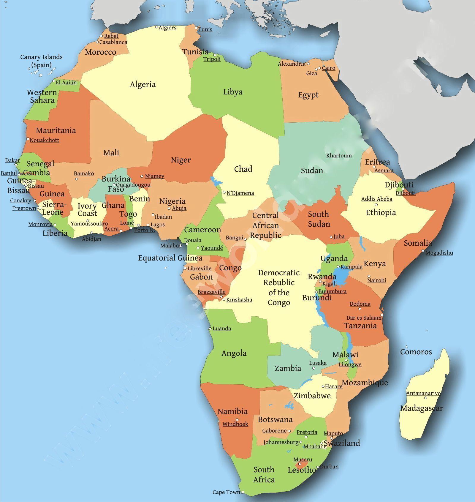 africa_map1 | Homeschool English | Pinterest | African ... African Countries Map