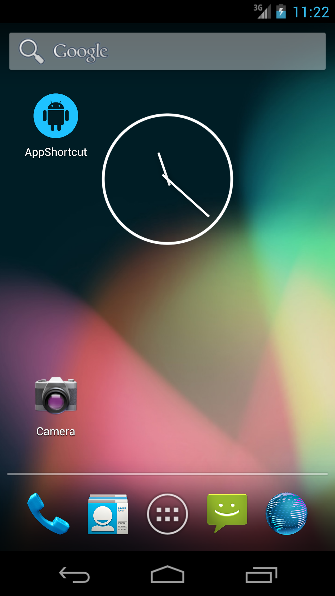 How to create android app home shortcut using android
