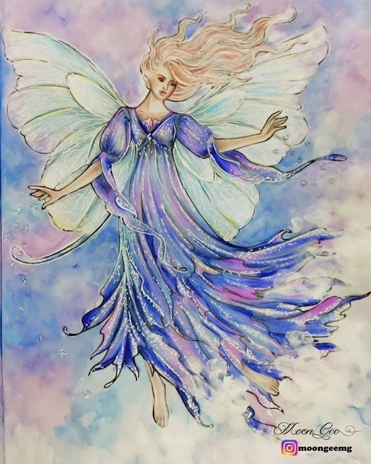 #fairyworld #watercolour #watercolor #adultcoloringbook #posca #prisma #prismacolor