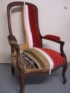 diff rentes tapes de la r novation d 39 un fauteuil en 2019 maison pinterest retapisser un. Black Bedroom Furniture Sets. Home Design Ideas
