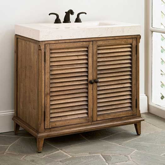 Bathroom Vanities With Louvered Doors Pinterest Bathroom - Louvered door bathroom vanity