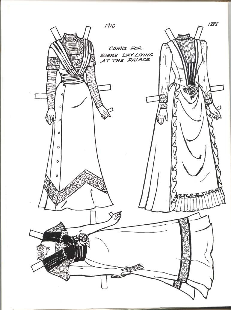 QUEEN MARY PAPER DOLL - last 4 pages of book | Paper dolls ...
