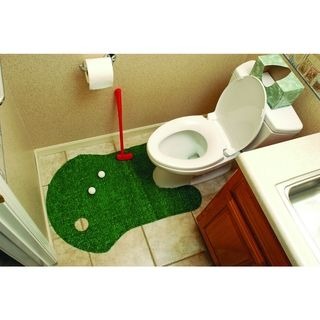 Bathroom Putting Green Golf There S Always Enough Time To Practice Your