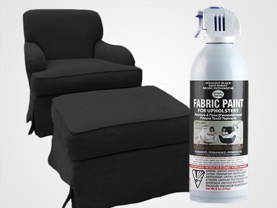 Midnight Black Upholstery Fabric Spray Paint Dye Furniture Upholstery Fabric Spray Paint Paint Upholstery Fabric Spray Paint