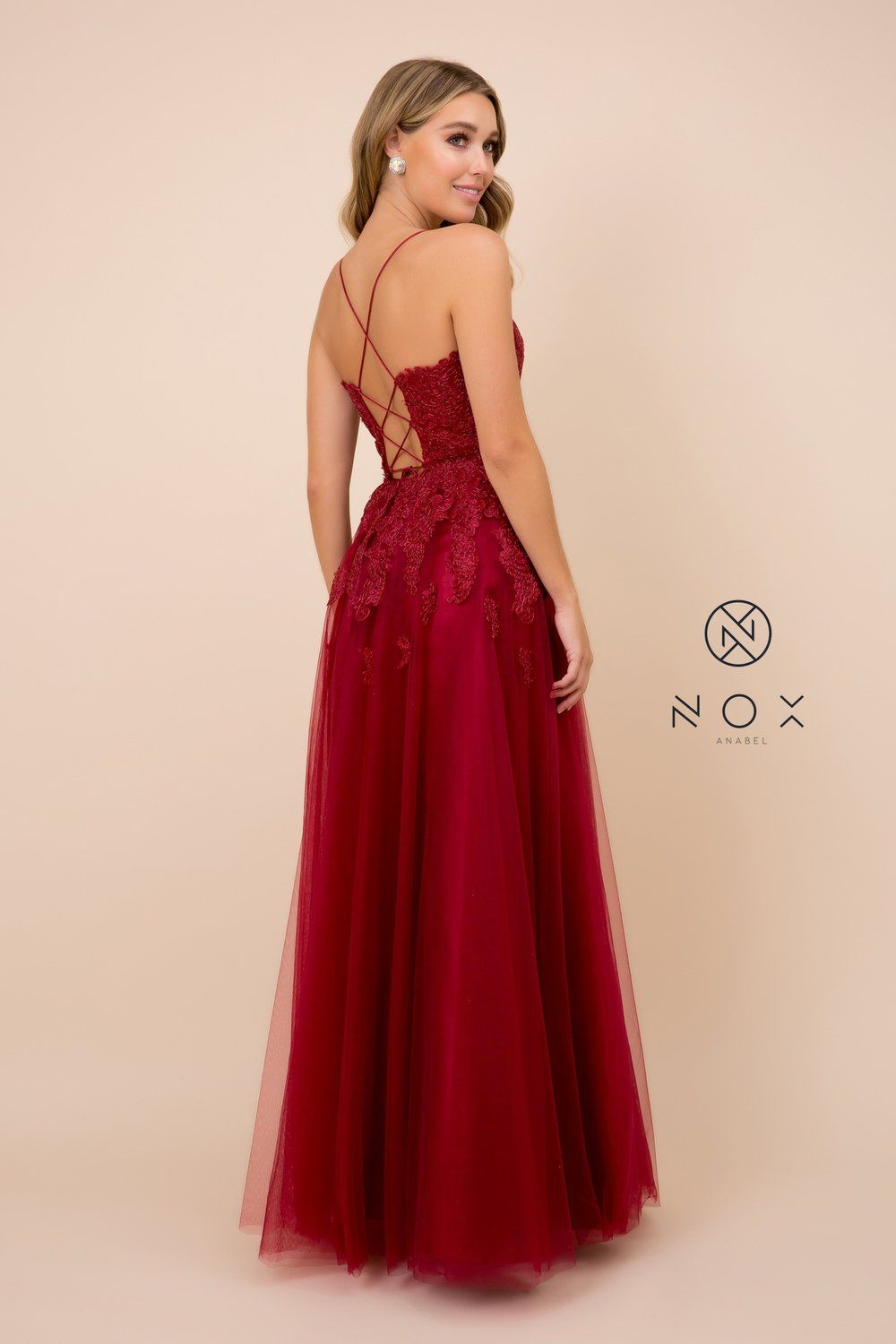 Ball Gown Style Embroidered Bodice Long Prom Dress R351 BY NARIANNA