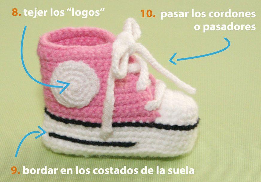 Atractivo Crochet Sandalias Del Bebé Libre De Las Pautas De Foto ...