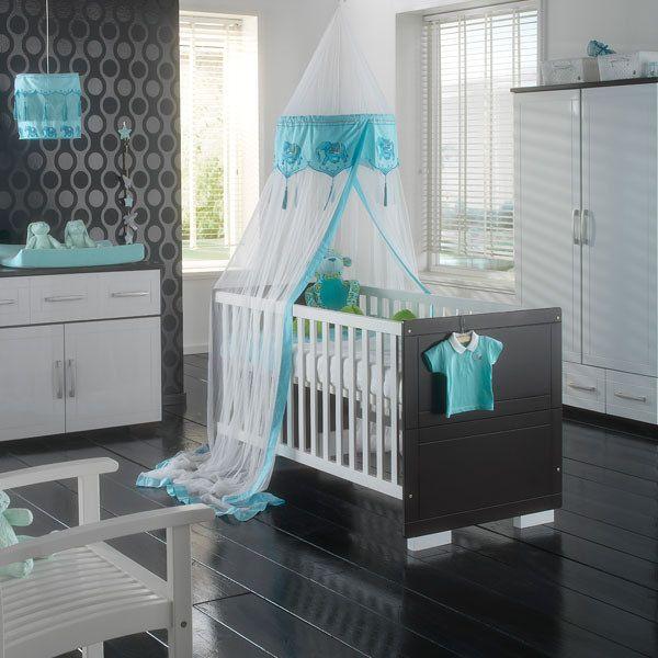 habitación bebé en verde agua marina, blanco y negro | CUNA PARA ...