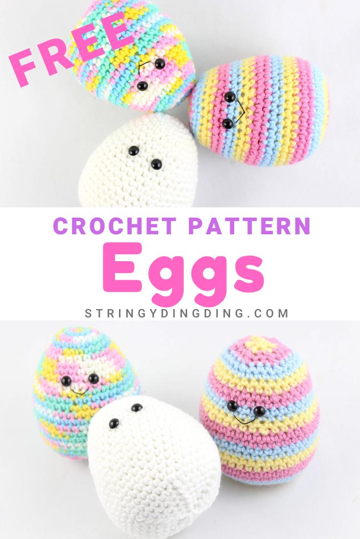 Free Egg Easter Amigurumi Crochet Pattern