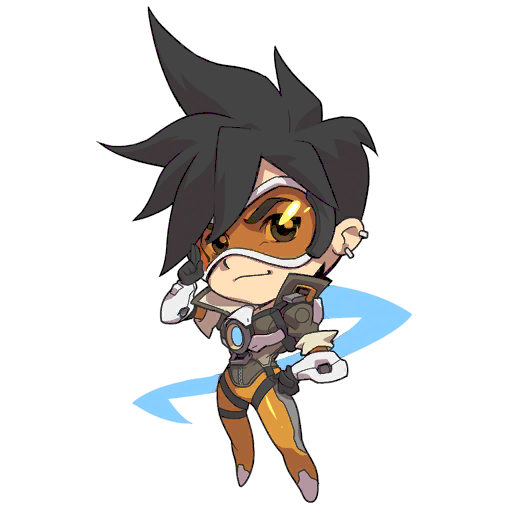 Tracer X Png 512 512 Overwatch Tracer Overwatch Chibi