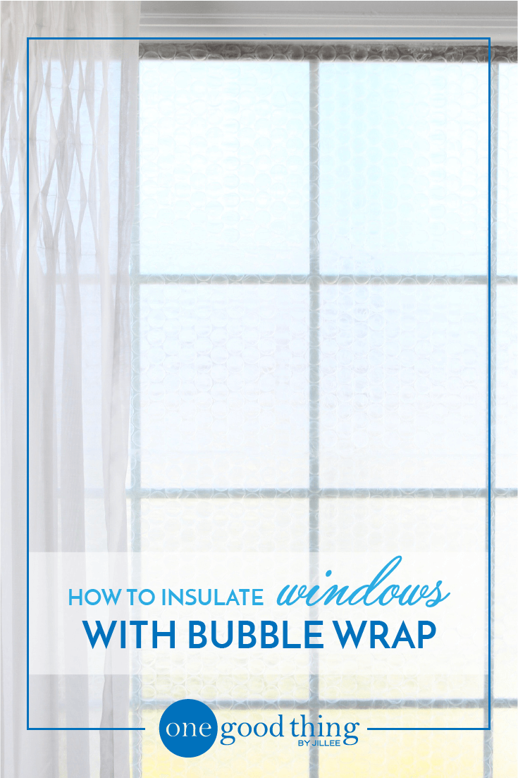 Learn How Easy It Is To Insulate A Drafty Window With Bubble Wrap S An Inexpensive Way Keep Your Home Warmer Through The Cold Winter Months