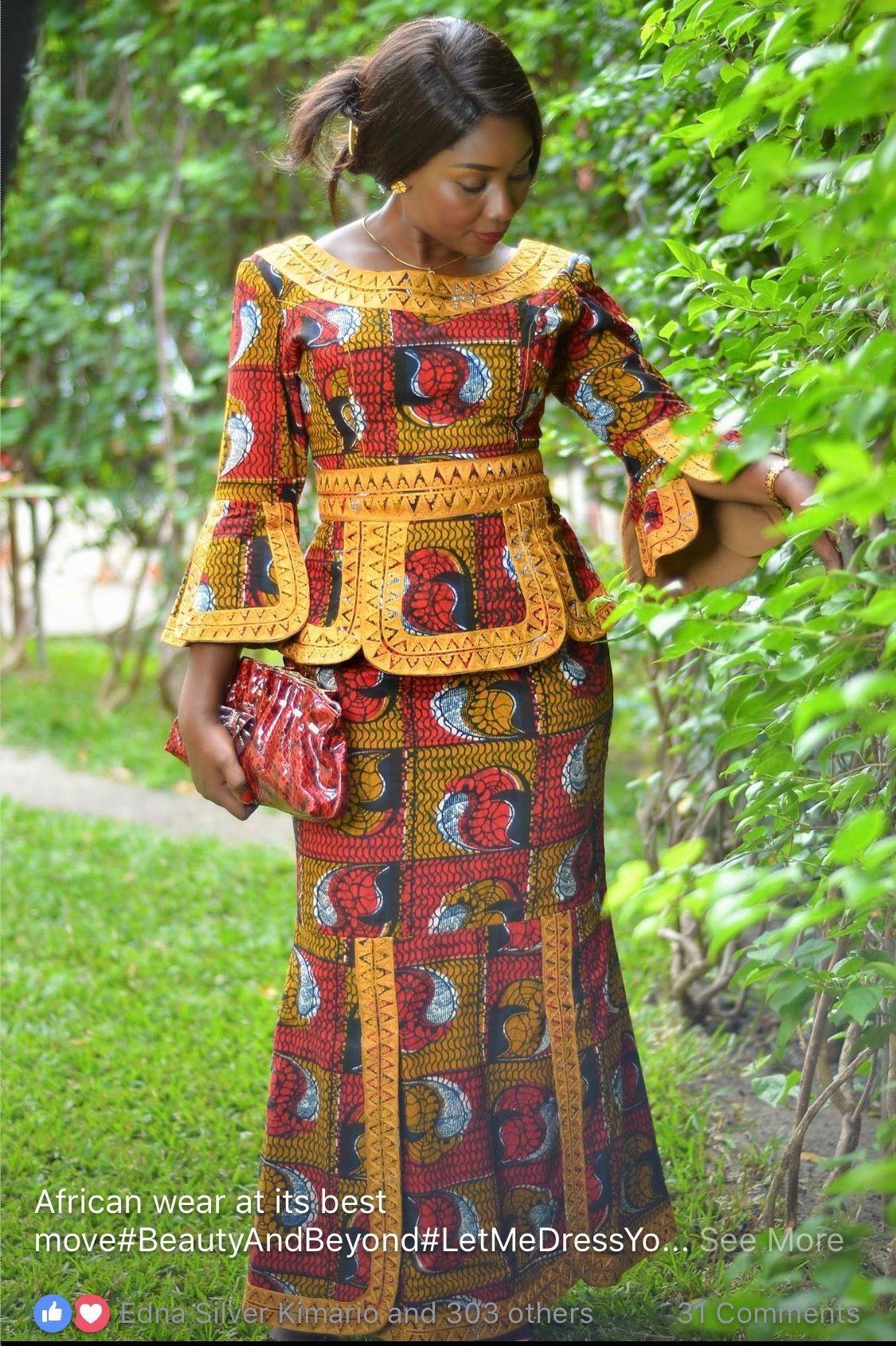"""Résultat de recherche d'images pour """"model pagne africain simple""""   African clothing styles"""