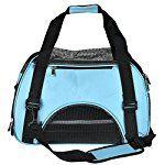 CozyCabin Pet Cat Dog Carrier Bag Comfort Airline Approved Pet Dog Travel Tote Purse Soft Sided for Hiking Bike Travel (S M&L) (L Blue)